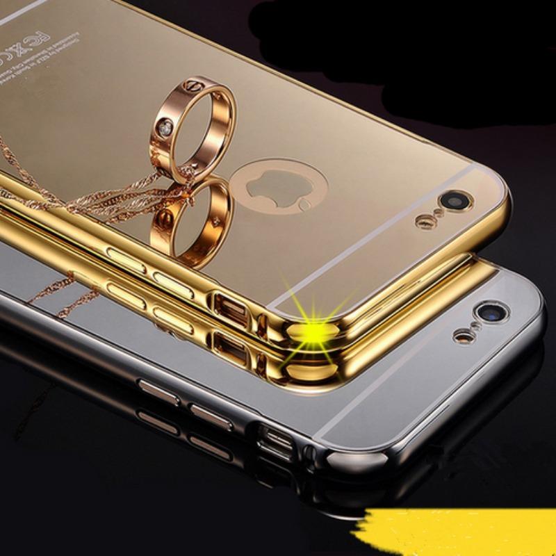 b1db3588a74 Case Bumper Aluminio Espejo Para iPhone 6/6s Plus - S/ 29,99 en ...