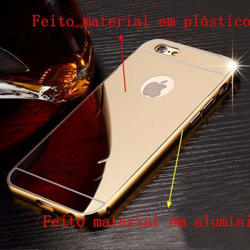 case bumper anti-shock  espelhada celular iphone 7 tela 4.7