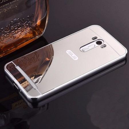 case bumper espelhada asus zenfone selfie+película de vidro