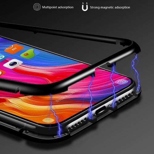 case bumper magnetico aluminio iphone 6 7 8 plus xs max iman