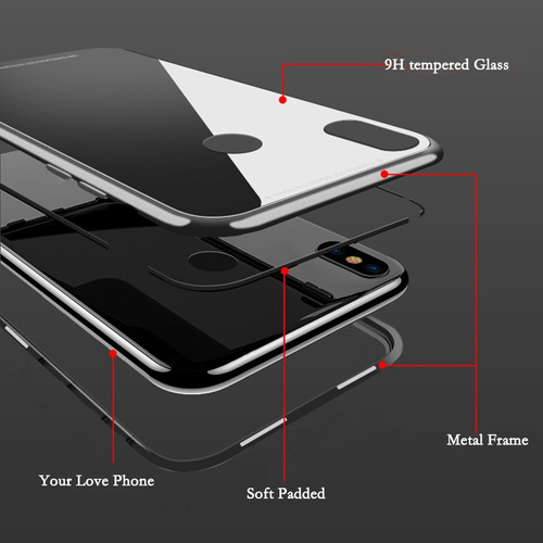 case bumper magnetico huawei p30 pro metal protector cover