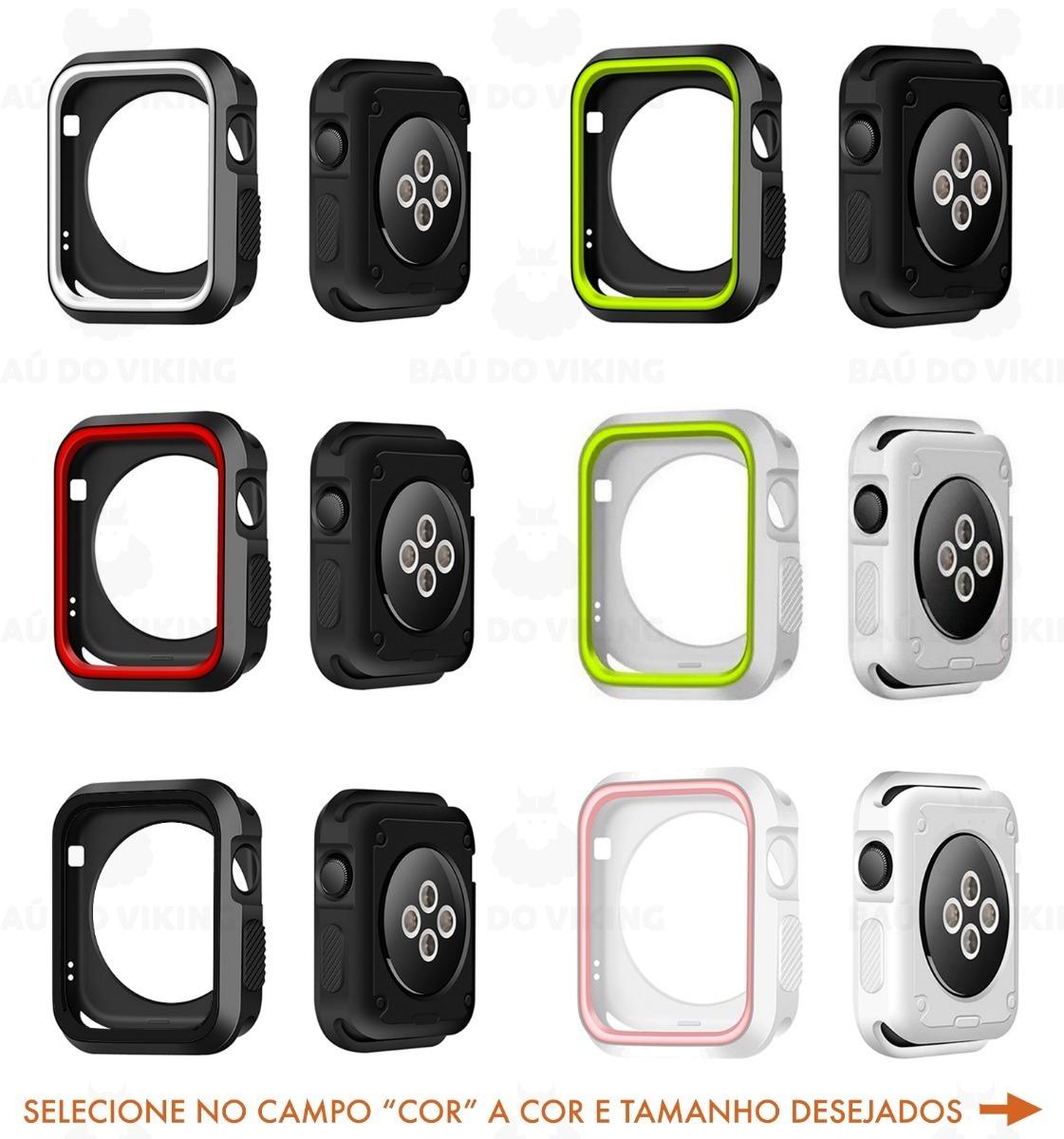 2471dd35520 case bumper sport nike apple watch borracha 42mm 38mm. Carregando zoom.