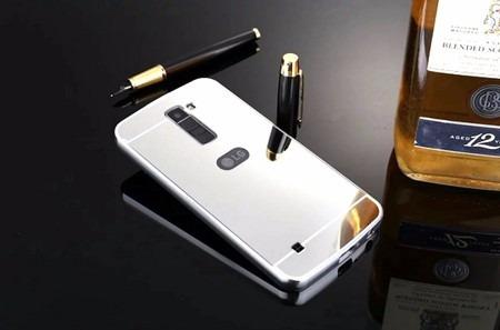 case capa bumper alumínio espelhada luxo celular lg k8 top