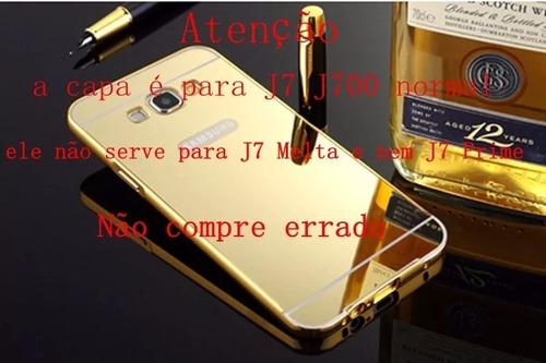 case capa  bumper espelhada celular galaxy j7 j700 / j7 neo