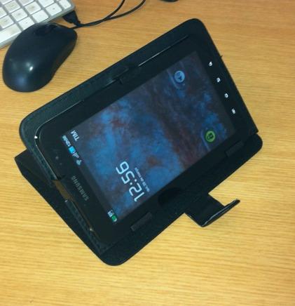 case capa couro para tablete de 7