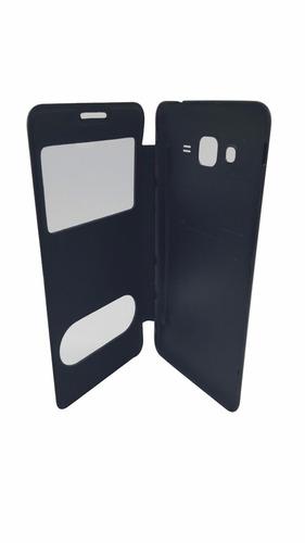 case capa flip com 2 visor  galaxy gran prime tv h531
