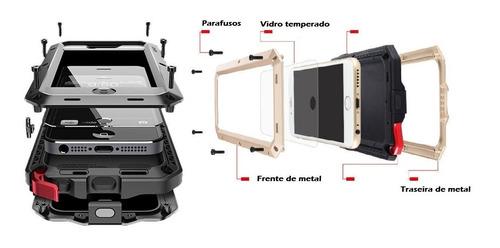 case capa iphone xs max xr x xs iphone 11 tank metal anti shock armadura blindada vidro temperado