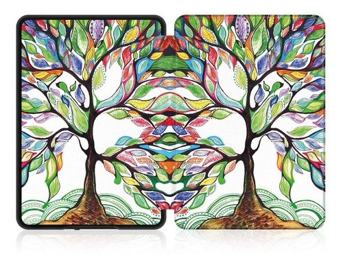 case capa novo kindle 10ª geração árvore + 4 brindes
