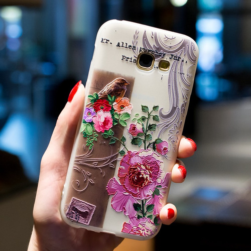 case capa samsung galaxy s7 anti shock impacto flores bird