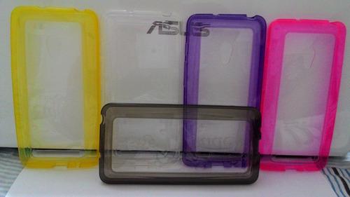 case capinha bumper cristal zenfone 5 tpu +película proteção