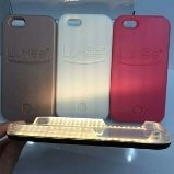 case capinha capa iphone lumee luz led iphone 5 5s se 7 plus