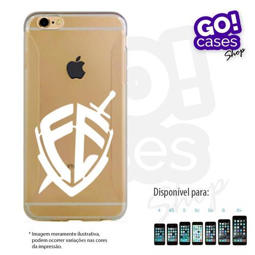 case capinha  em tpu fé iphone 4/4s/5/5s/5c/6/6 plus