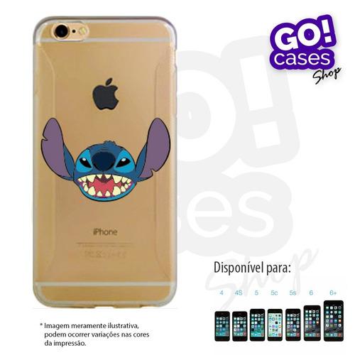 case capinha tpu stitch p/ iphone 4/4s/5/5s/5c/6/6plus