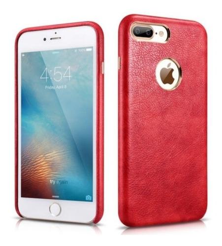 case carcasa de cuero genuino iphone 6 plus