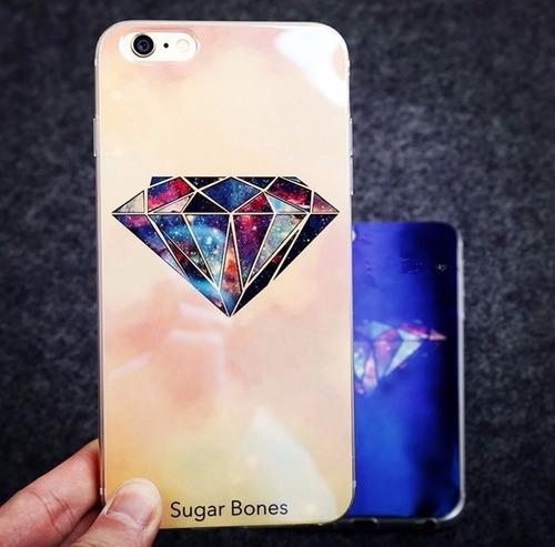 case carcasa protector diseño exclusivo diamante iphone 6 6s