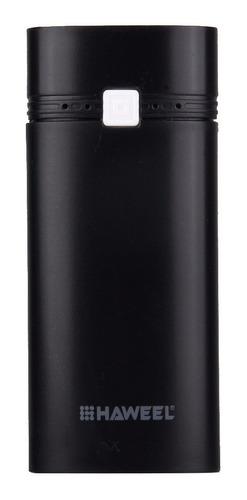 case cargador portatil para 2 baterías 18650 con salida usb