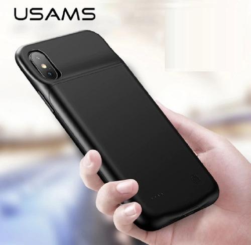 case carregador de bateria para iphone x/ xs 3200mah