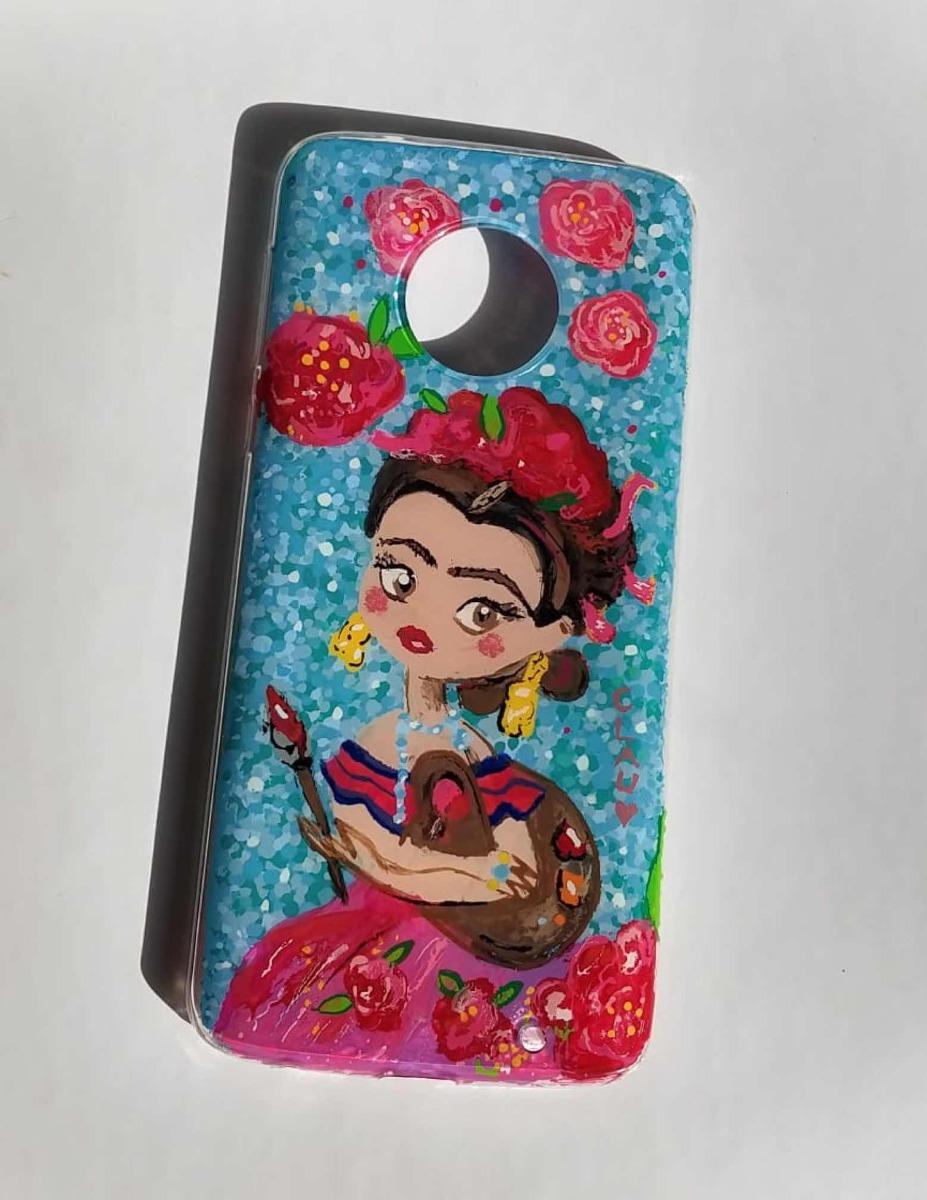 9e695428319 Case Celular Pintado A Mano Funda Celular Frida Kahlo - $ 499.00 en ...