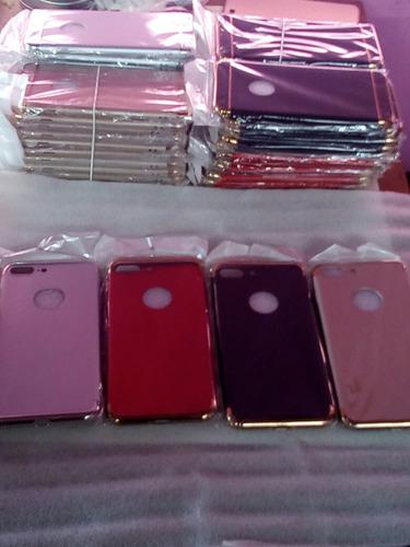 case chapado + protector de vidrio templado iphone 6 plus