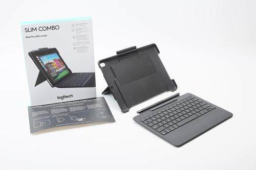 case con teclado logitech slim combo ipad pro 10.5 air 2019