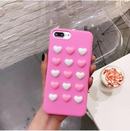case corazones 3d iphone 7 plus / iphone 8 plus