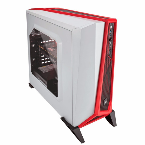 case corsair carbide series spec-alpha, mid-tower, blanco/ro