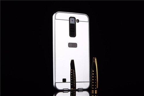 case cover luxury metal bumper lg k8 k10 2017 cromado