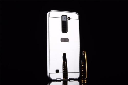 case cover luxury metal bumper lg k8 k10 2017 cromado