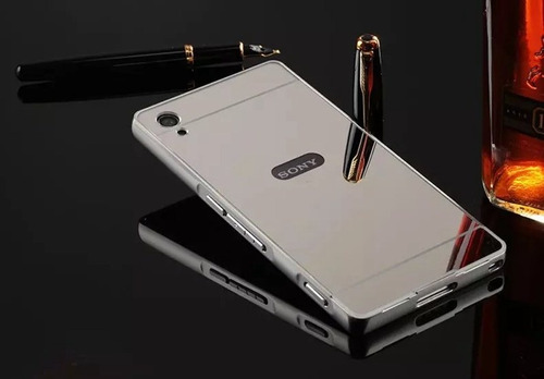 case cover protector funda aluminio espejo sony z2