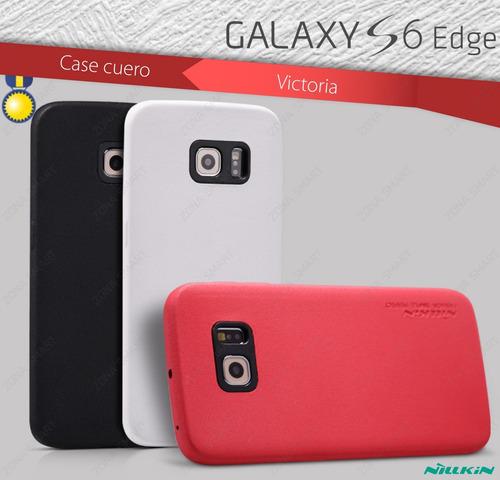 case cuero galaxy s6 edge - nillkin victoria elegante