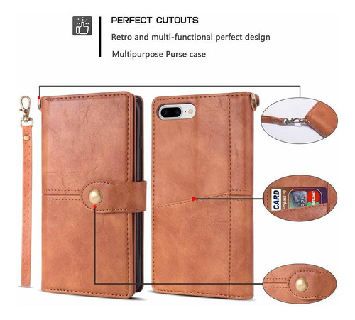 case de iphone 7 plus caja de carpeta iphone plus 8 kudex de