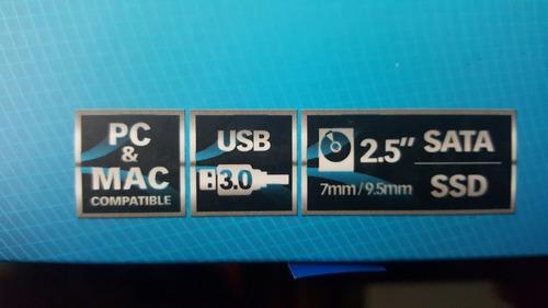 case disco duro externo de 2.5  sabrent usb 3.0