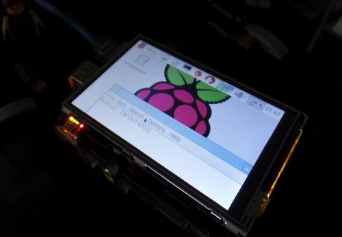 case e lcd 3.5 touch para raspberry pi 2 e 3, pronta entrega