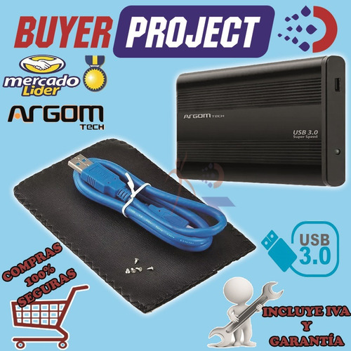 case enclosure argom usb 3.0 disco laptop 2.5'' sata + estuc