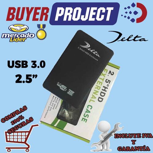 case enclosure disco duro laptop 2.5'' sata usb3.0 + estuche