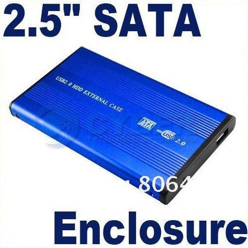 case enclosure disco duro notebook laptop 2.5'' sata usb 2.0