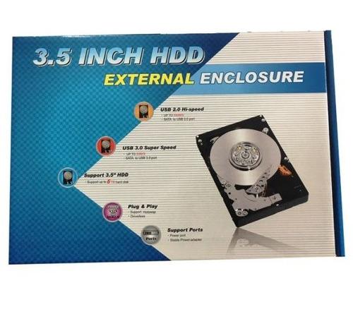 case enclosure hdd disco duro pc externo 3.5'' sata usb 3.0