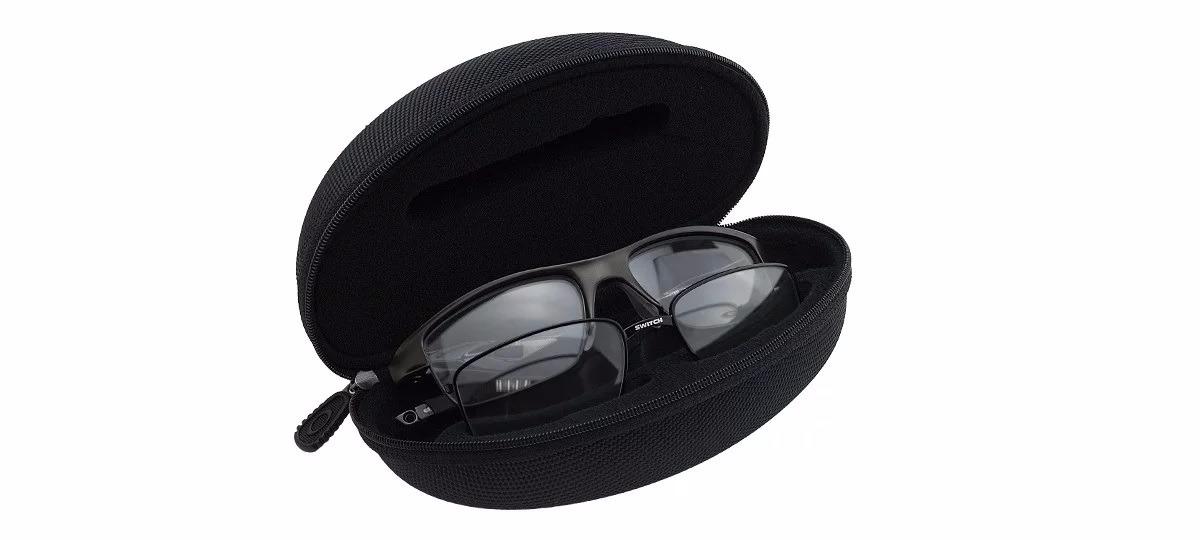 3322a25850d8e case estojo óculos oakley preto original espaço extra lente. Carregando  zoom.
