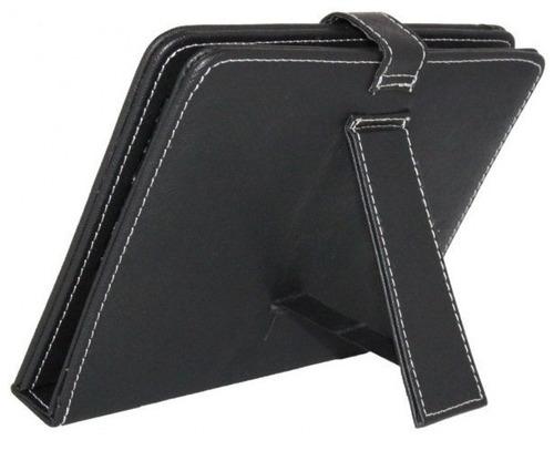 case estuche para tablet 7  de semicuero con teclado - geek