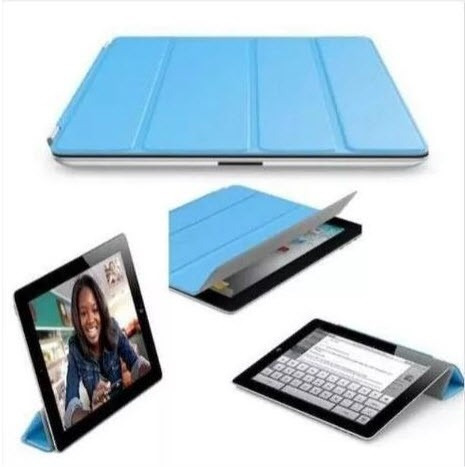 case estuche protector smart cover para ipad 2 de cuero puro