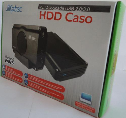 case externa gaveta jikatec cooler hd 3,5 sata/ide usb 3.0