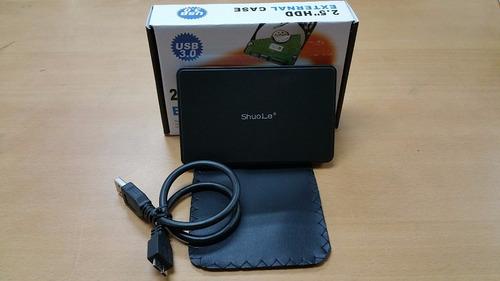 case externo 2.5 disco duro sata laptop usb 3.0