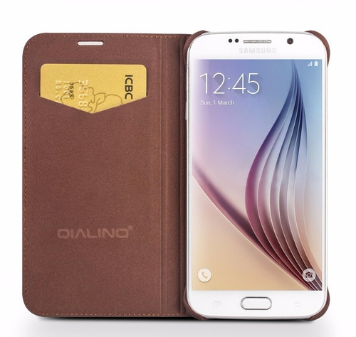 case flip cover qialino cuero classic - samsung s6