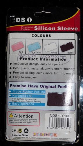 case forro estuche de silicon p/consola nintendo ds i blanco