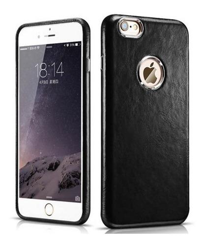 case funda de cuero negro genuino para iphone 6 6s
