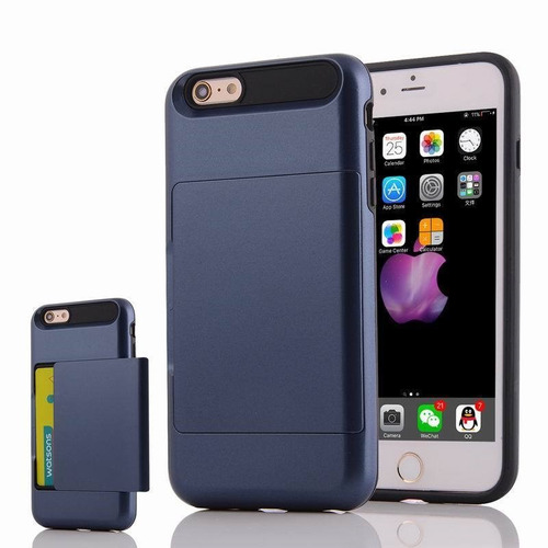 case / funda dura - tarjetero secreto de iphone 6/6s - 4.7