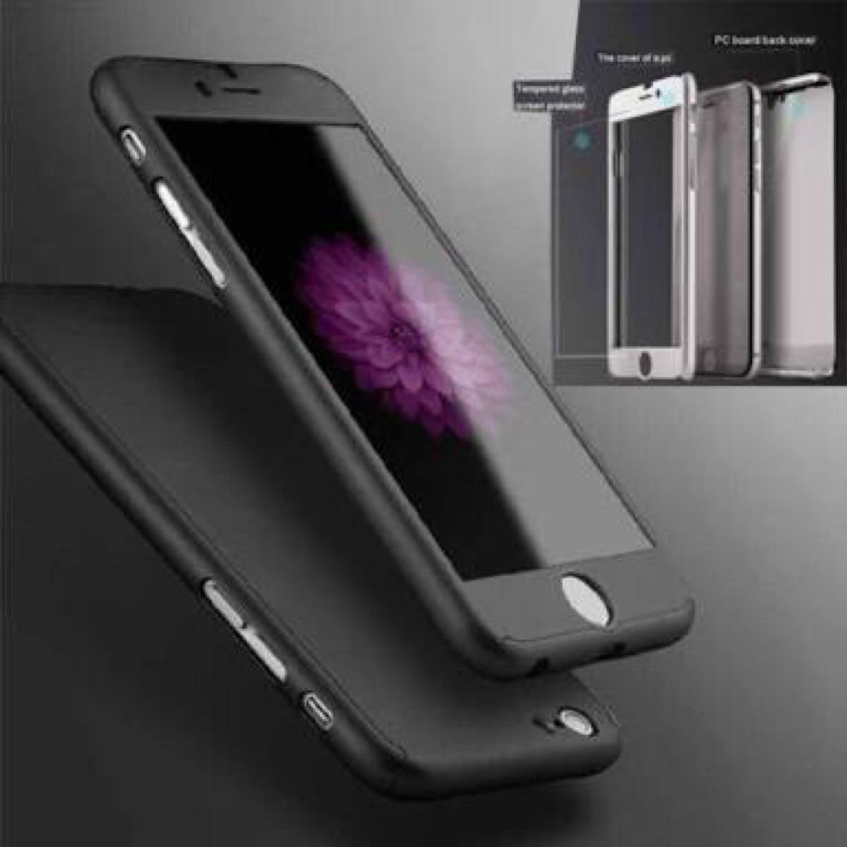 Case Funda Protector 360 Grados Iphone 6 6s Apple Cristal