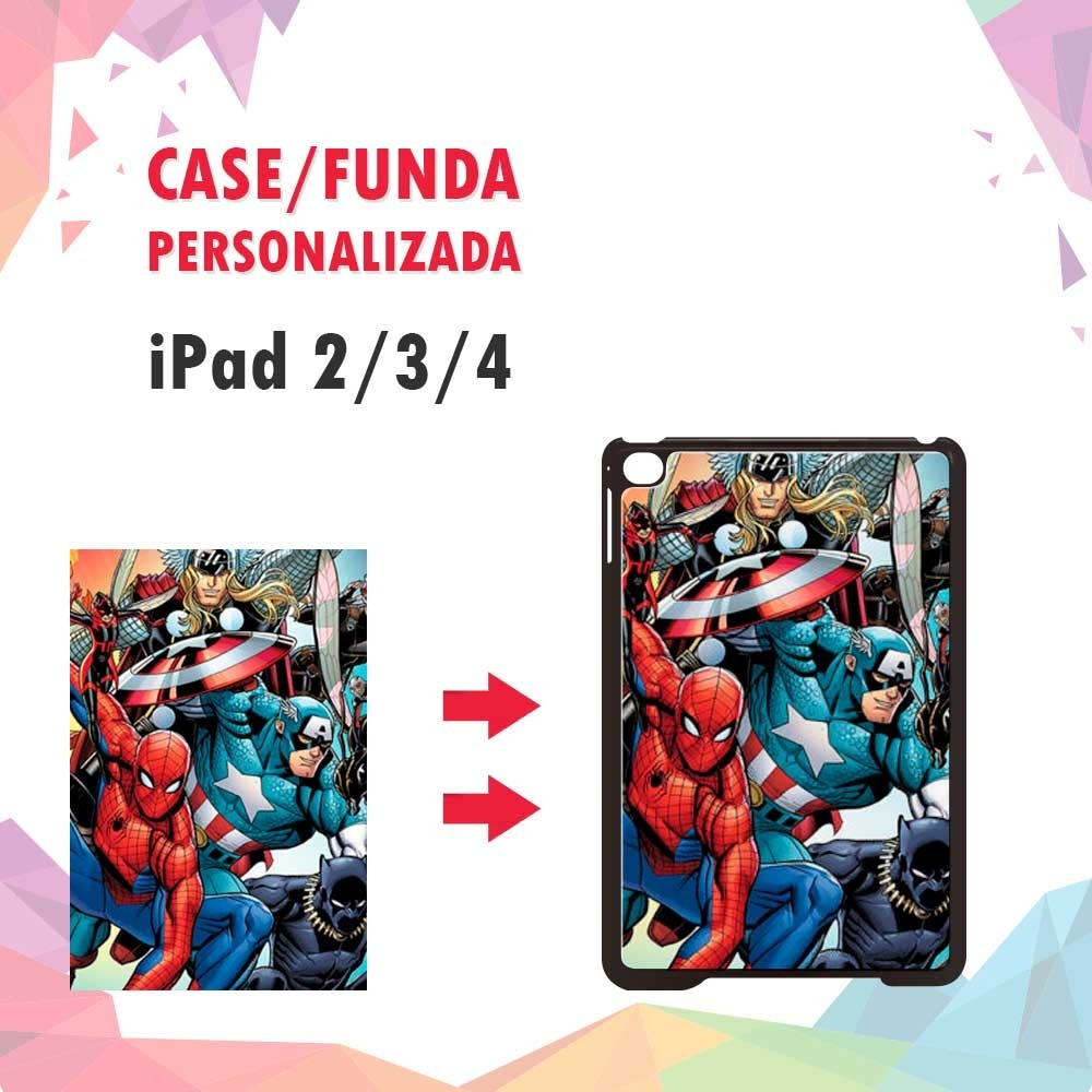 fa257fd6ec2 Case/ Funda Personalizada iPad 2/ 3/ 4 Rígido - $ 200.00 en Mercado ...