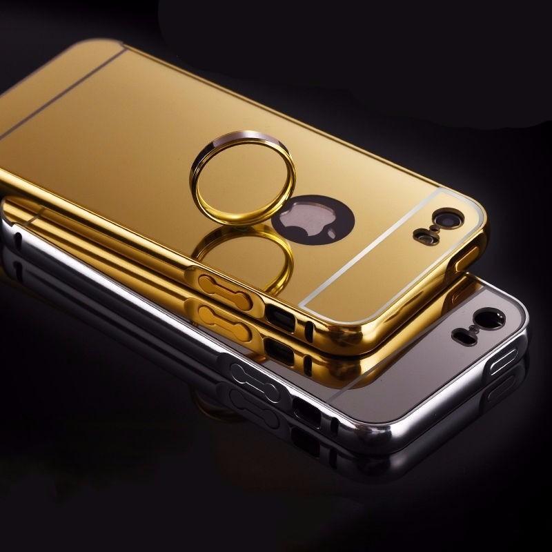 Case funda protector aluminio tipo espejo iphone 5 s se en mercado libre - Aluminio espejo ...