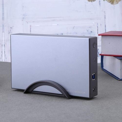 case gabinete usb 3.0 disco duro 3.5  sata 3 uasp 8tb